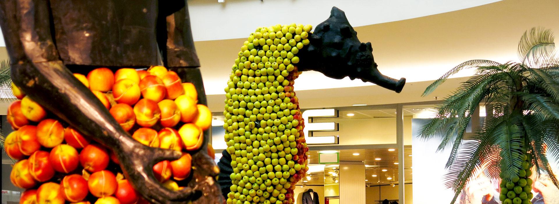 Apfel Ausstellung mieten Einkaufszentrum