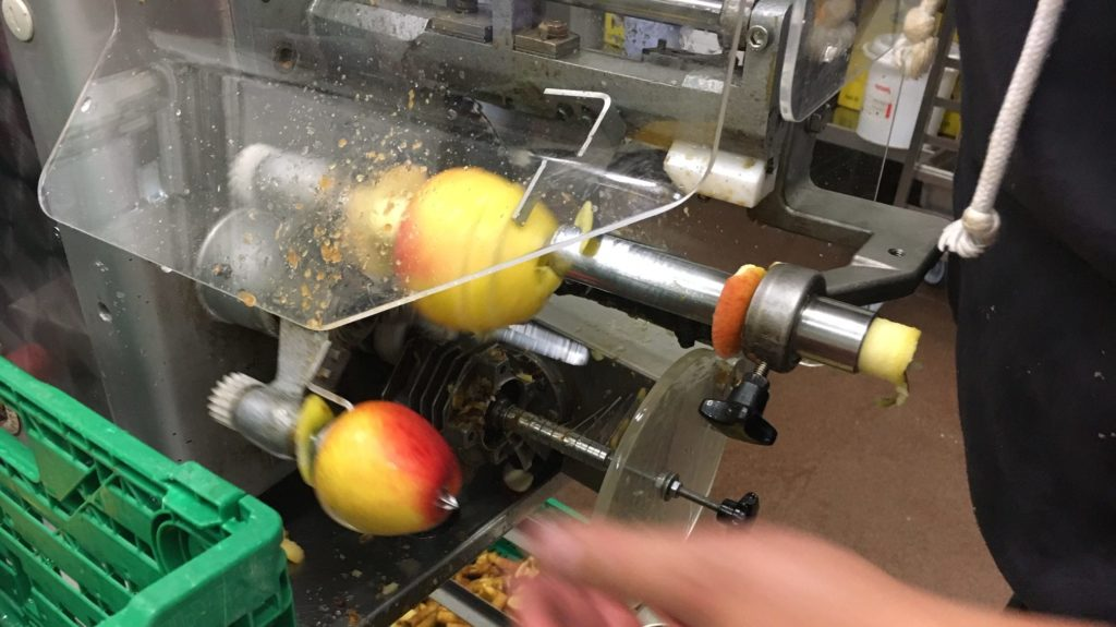 Apfelringe Schneidmaschine