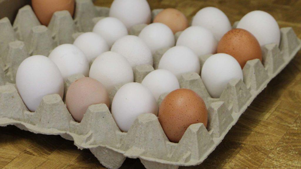 Eier mit Mängeln