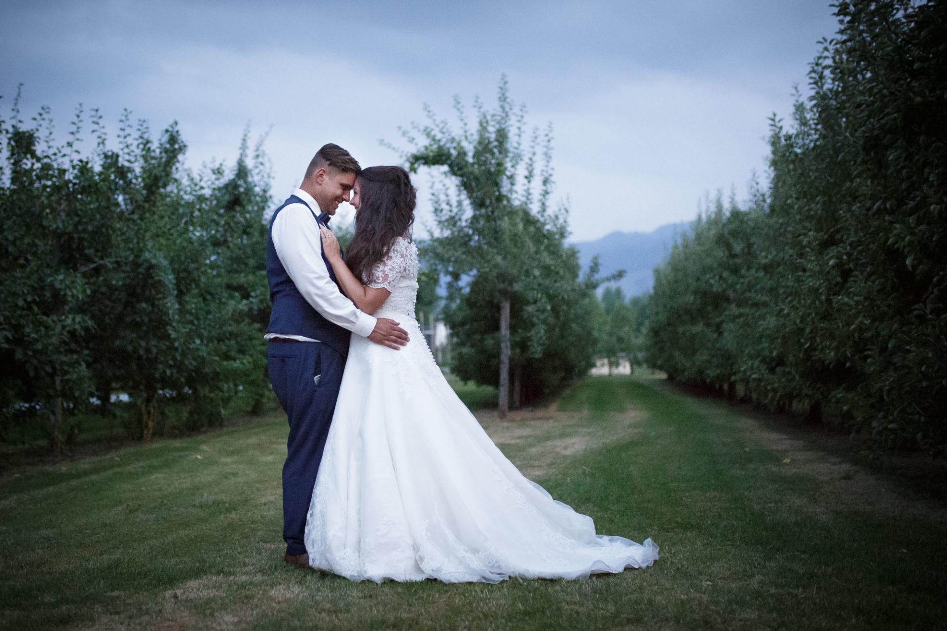 Bächlihof Hochzeit Apfelbäume