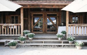 Bächlihof Schopf Hochzeit Eingang