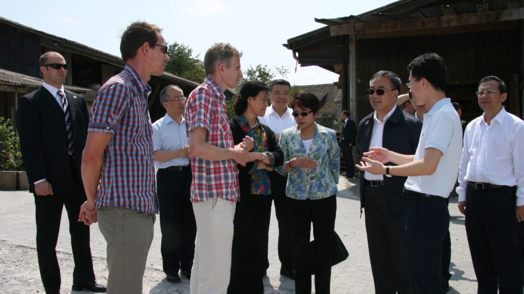 China besucht Juckerhof