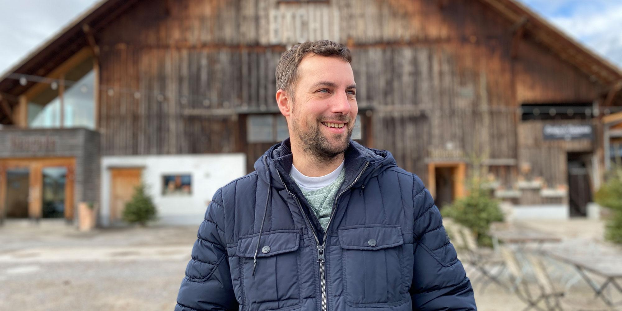 David Prevost vor Bächlihof