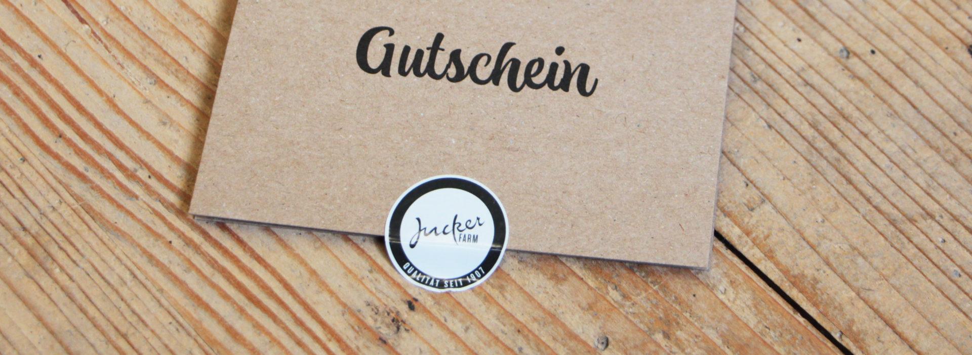 Geschenkkarte vom Bauernhof JuckerFarm