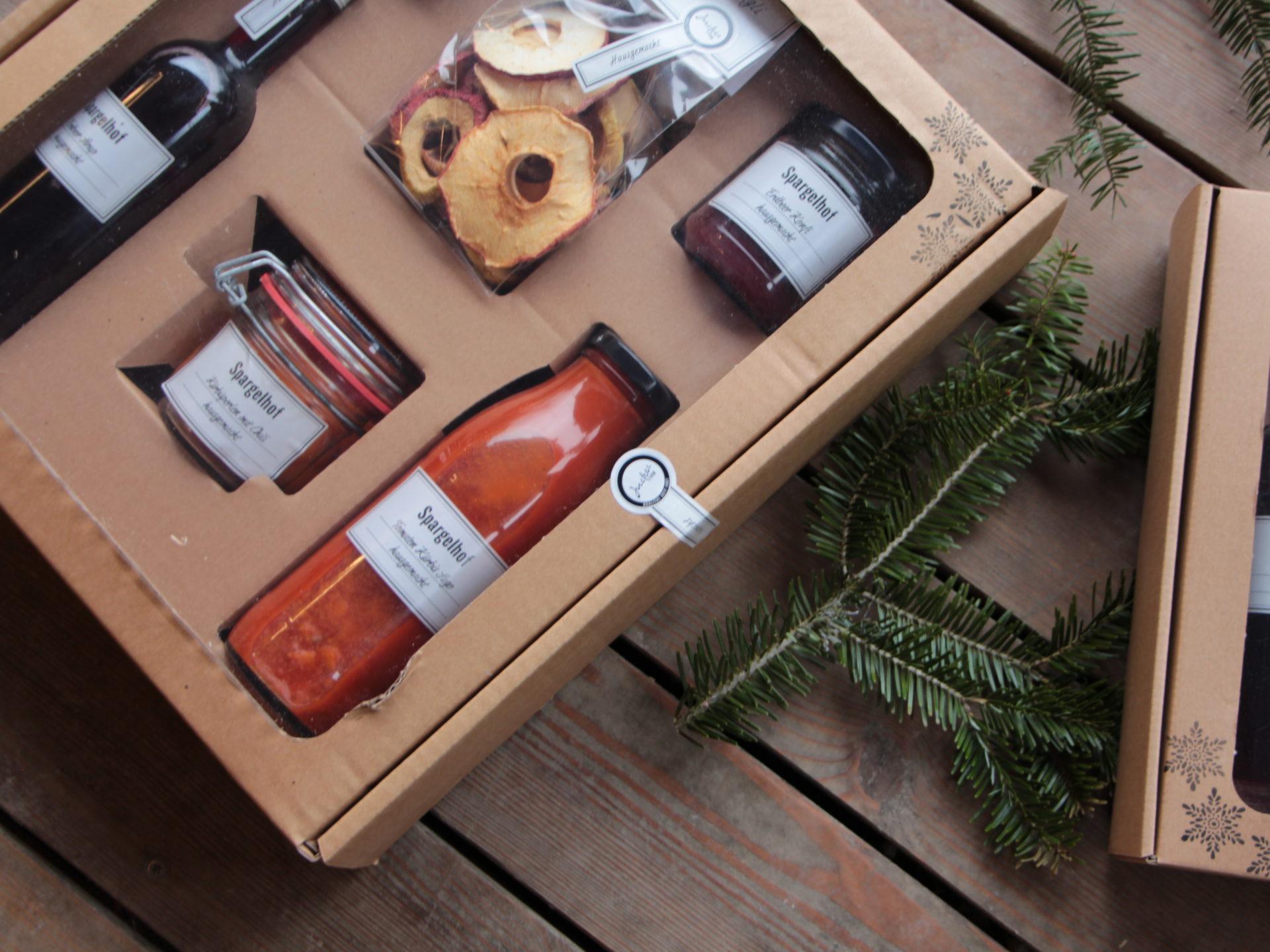 Geschenkkiste Karton Sichtfenster