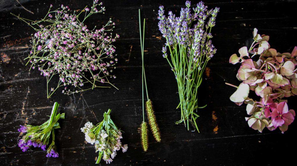 Trocknende Blumen