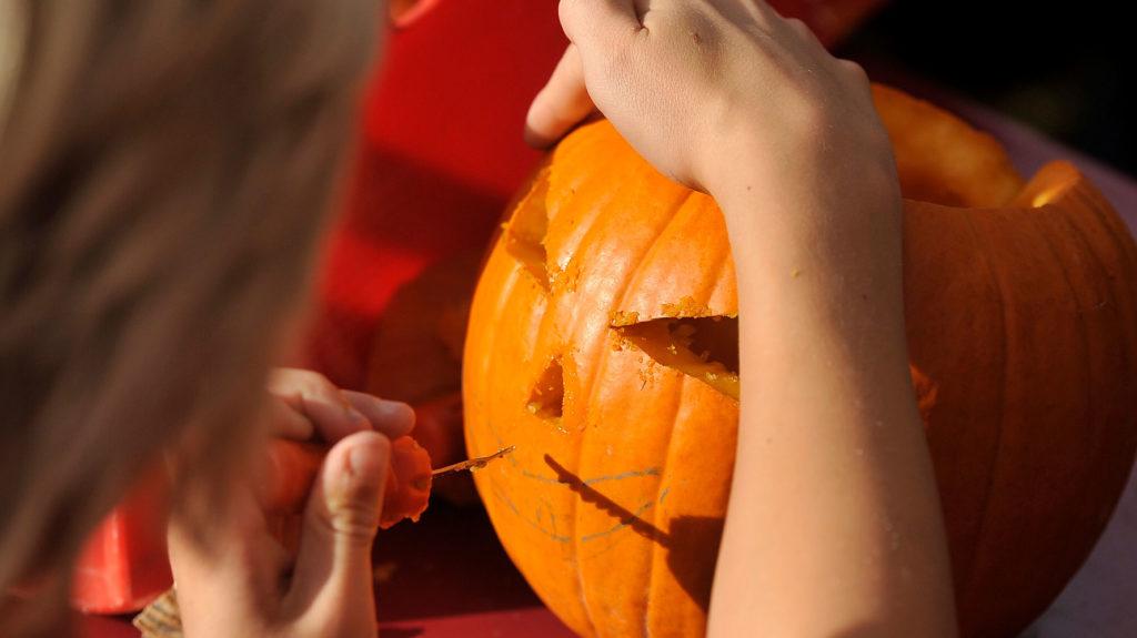 Halloweenkürbis Schnitzen