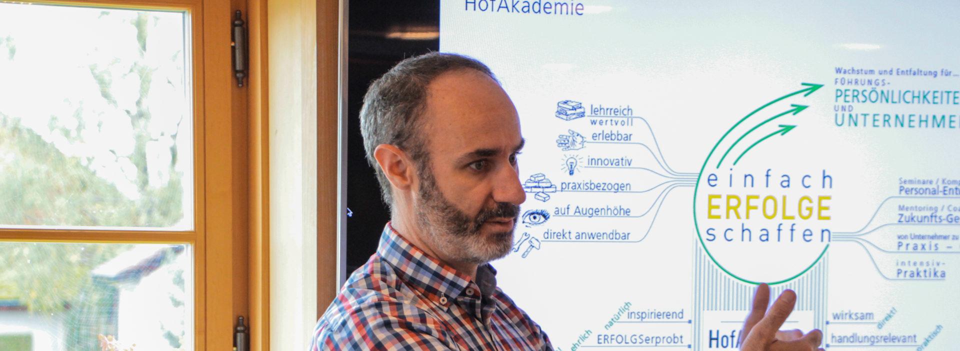 HofAkademie Trainer Alessandro Semeraro