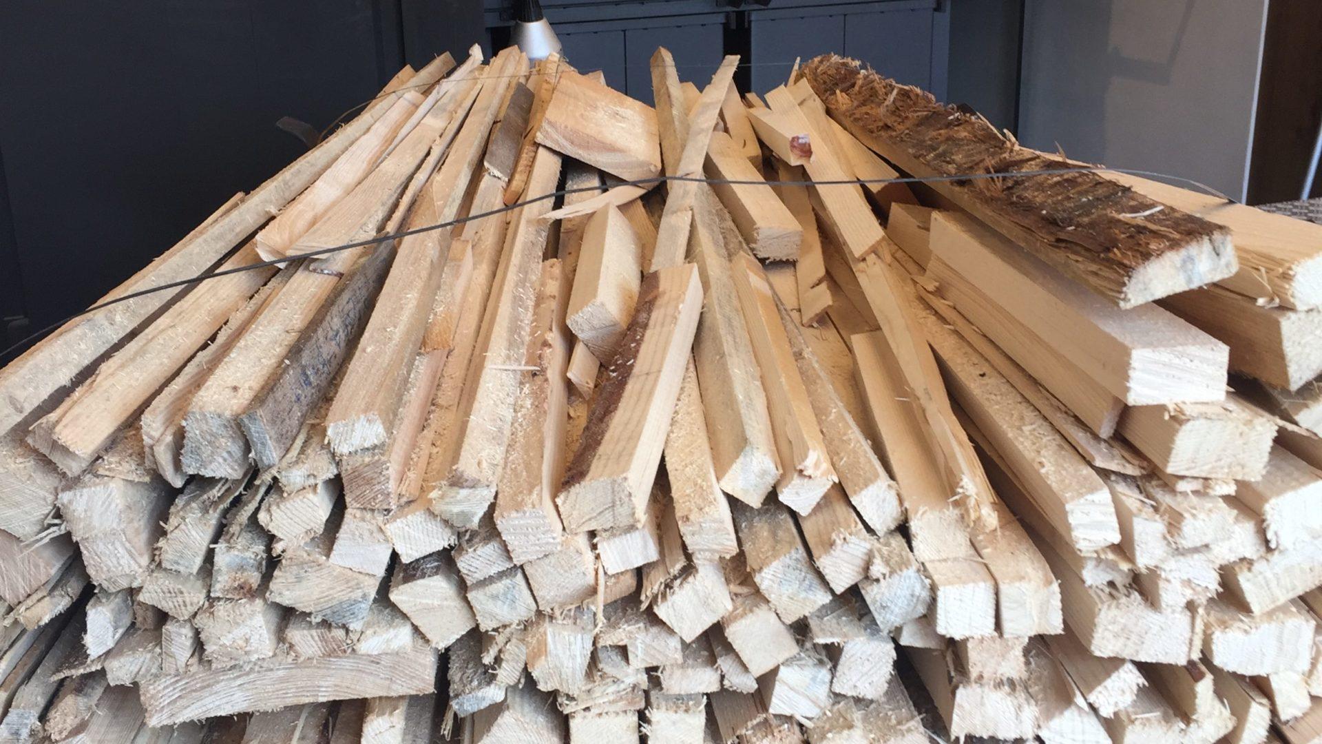 Holzofen Mit Holz Hofbaeckerei