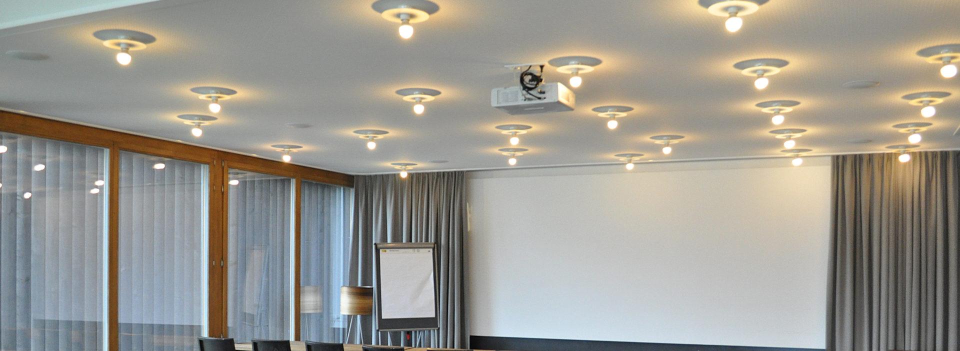 Juckerhof Seminarraum Panoramastube Leinwand