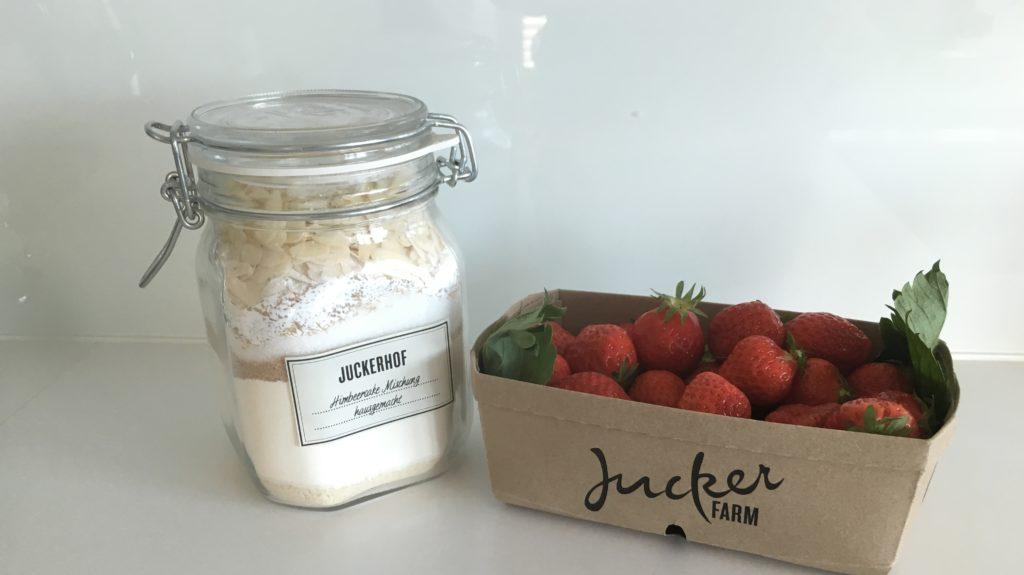 Kuchenmischung Mit Erdbeeren