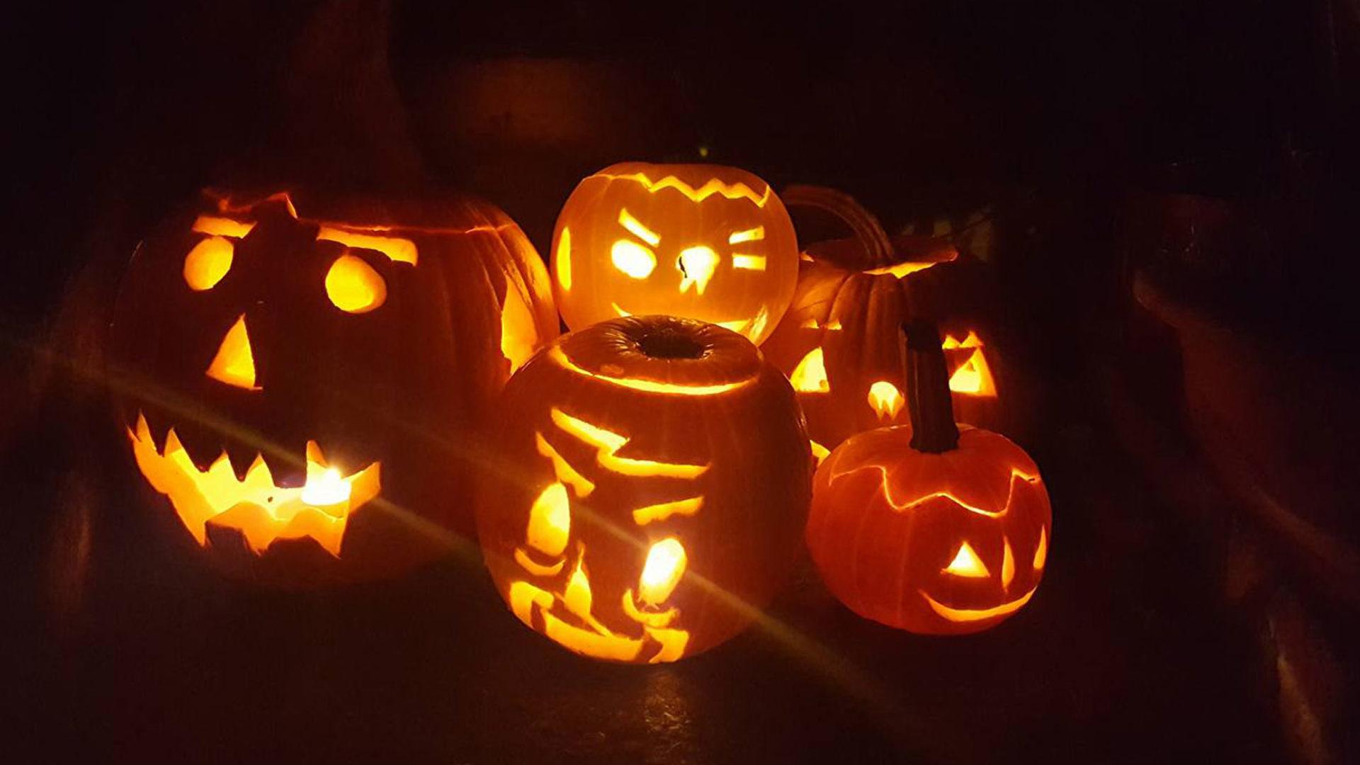 Laternenkürbis Halloween