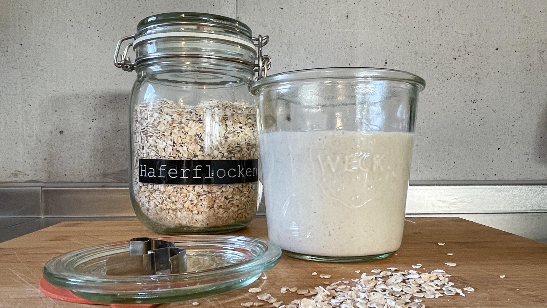 Haferrahm und Hafermilch selber herstellen