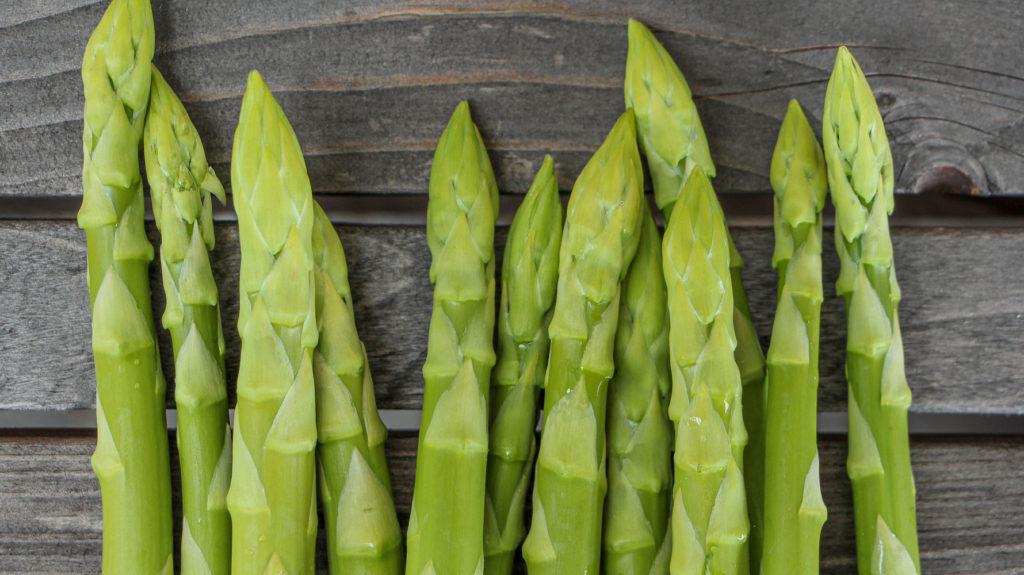 Grünspargel ohne Anthocyane