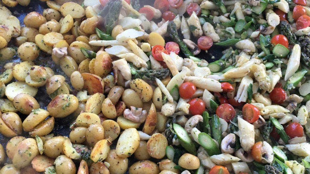 Spargelfpanne Mit Kartoffeln