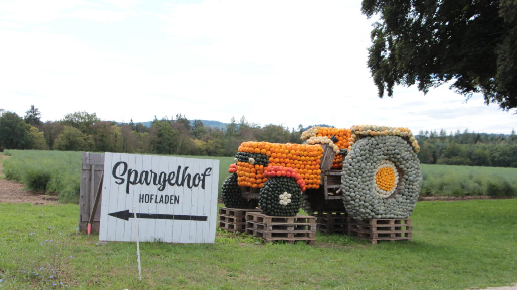 Spargelhof Kürbissaison Traktor