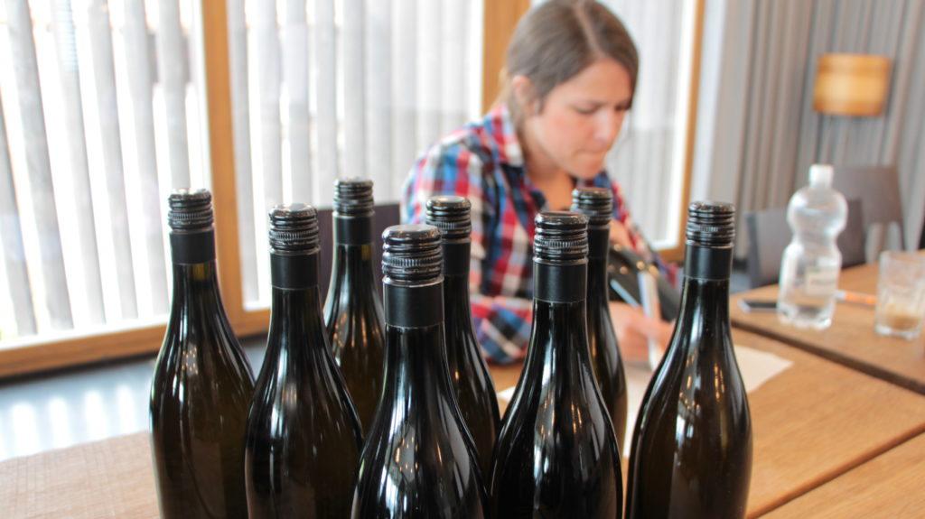 Wein Beschriften Flaschen