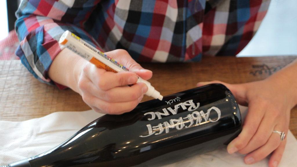 Wein Beschriften Handschrift