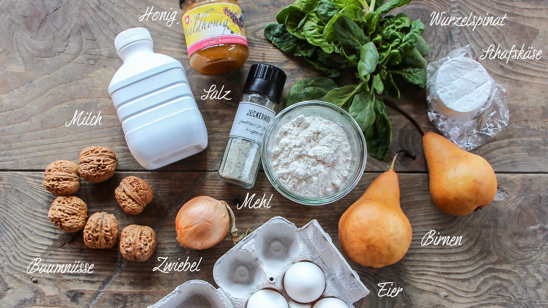 Zutaten Spinat Omelette